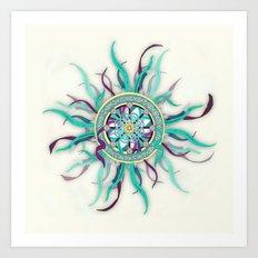 Colorful Dharma Ribbon Mandala Art Print