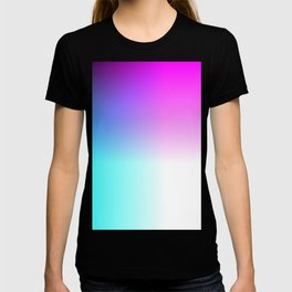 Blue Purple Pink and White Ombre Ocean T-shirt