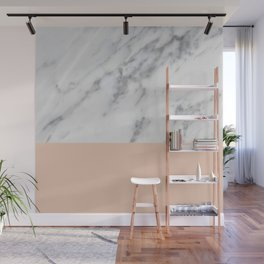Marble and Blush Pink Wall Mural