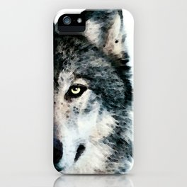 Wolf Art - Timber by Sharon Cummings iPhone Case