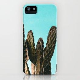 Cactus Photography Print {1 of 3} | Teal Succulent Plant Nature Western Desert Plants  Design Decor iPhone Case