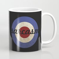 sarcasm Mugs featuring Sarcasm by Sudjino