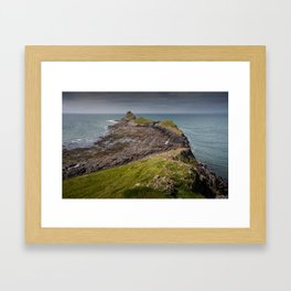 Worm's head on the Gower peninsular Framed Art Print
