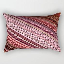 Maroon Earthy Filaments Digital Threads Rectangular Pillow