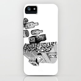 Black and White Everyday Life Internet of Things iPhone Case