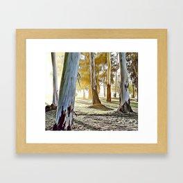 Forest Light Airbrush Artwork Framed Art Print