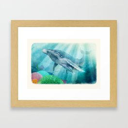 Mother Humpback Whale Framed Art Print