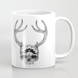 Mandala Skull With Gorgeous Antlers Coffee Mug
