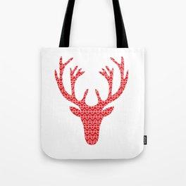 Red deer head Tote Bag