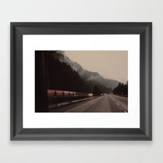 Train through the Mountain Framed Art Print