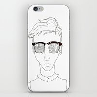 old school iPhone & iPod Skins featuring Old School by Andy Taps