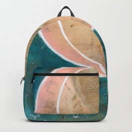 Pink Eco Print Moon Backpack