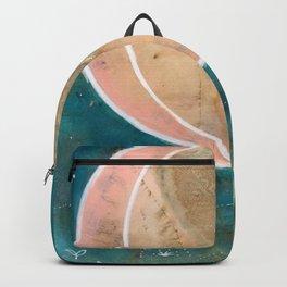 Pink Eco Print Moon Backpack