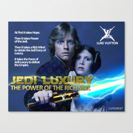 Jedi Luxury - The Power of the Rich Side Canvas Print