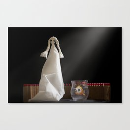 Emily and her fish  Canvas Print