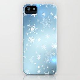 Snowflakes Christmas night iPhone Case