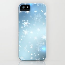 Snowflakes Christmas night iPhone Case