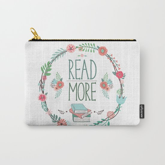Read More Floral Wreath Carry-All Pouch