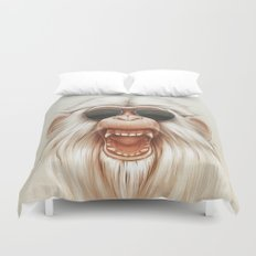 The Great White Angry Monkey Duvet Cover