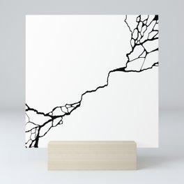Diagonal Destroyed Light Mini Art Print