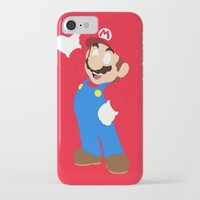 super mario iPhone & iPod Cases featuring Super Mario by Valiant
