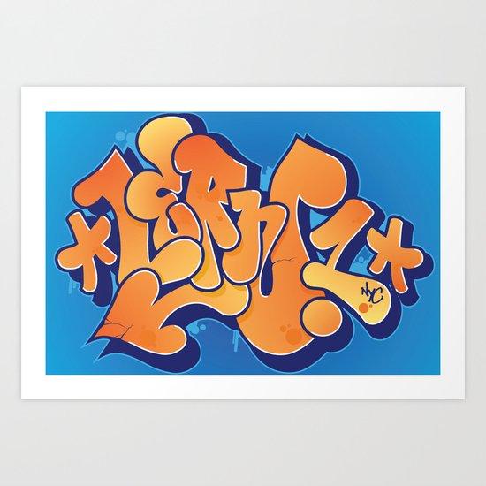 Lern 1 Bubblegum Graffiti NYC Art Print