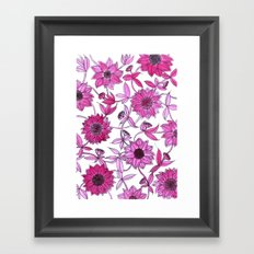 small pink flowers Framed Art Print