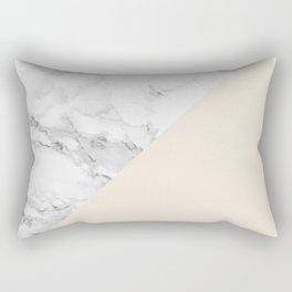 Marble + Pastel Cream Rectangular Pillow