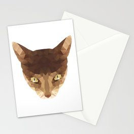triangular cat Stationery Cards