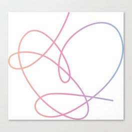 BTS Love Yourself Answer Heart Canvas Print