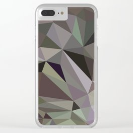 Abstraction Low poly Clear iPhone Case