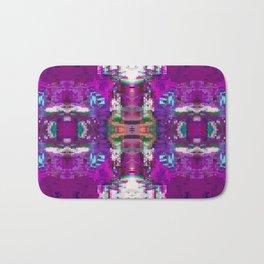 Purple digital patchwork Bath Mat