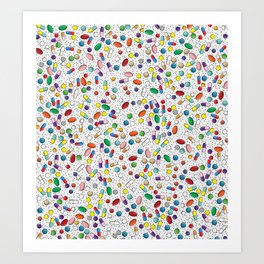 Medical Capsule Pharmacology Design Art Print