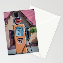 Vintage Orange Phillips 66 Gas Pump Along Route 66 in Baxter Springs Kansas Stationery Cards