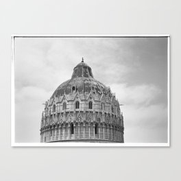 Scanned negative of San Giovanni Baptistery Canvas Print