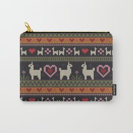 Llama Love Knit Carry-All Pouch