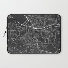 Syracuse Map, USA - Gray Laptop Sleeve