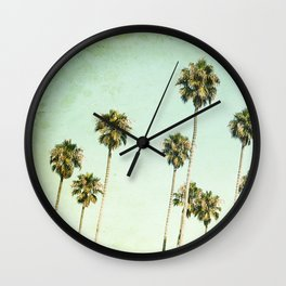 Palm Trees (California Dreaming III) Wall Clock