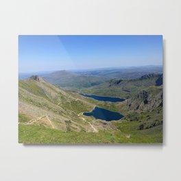 Mount Snowdon - Overlooking Pyg and Miner's Track Metal Print