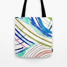 Wild: a mixed media piece in a variety of bright colors Tote Bag