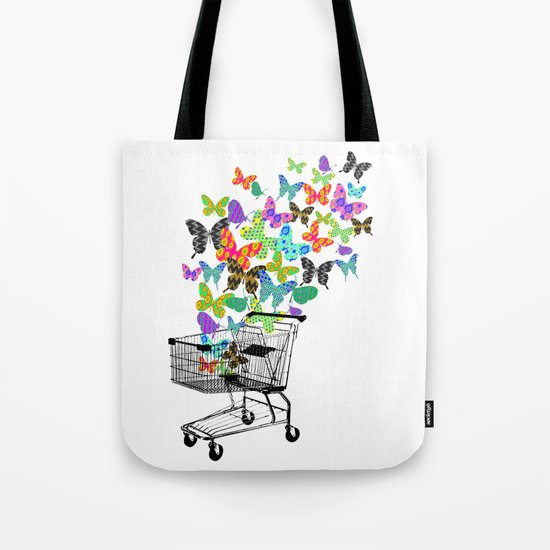 Urban Butterflies Tote Bag