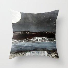 Grey Rocks on Still Waters Throw Pillow