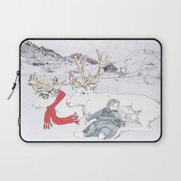 Reindeer in a scarf Laptop Sleeve