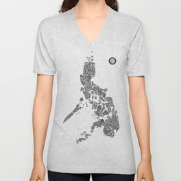 Paranormal Philippines (white) Unisex V-Neck