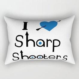 I Love Sharp Shooters Rectangular Pillow