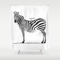ninja Shower Curtains featuring Ninja Cat by Tummeow