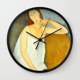 Amedeo Modigliani - Jeanne Hébuterne Wall Clock