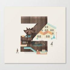 Resort type - Letter Z Canvas Print