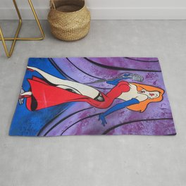 Jessica Rabbit Spray Painting Rug