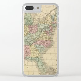 Vintage Map of The United States (1864) Clear iPhone Case